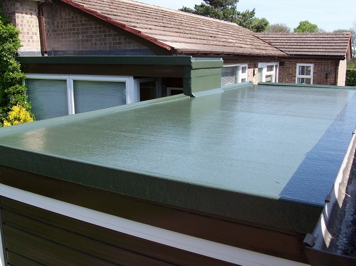 A GRP roof system from Poly roof in Lead green we installed.