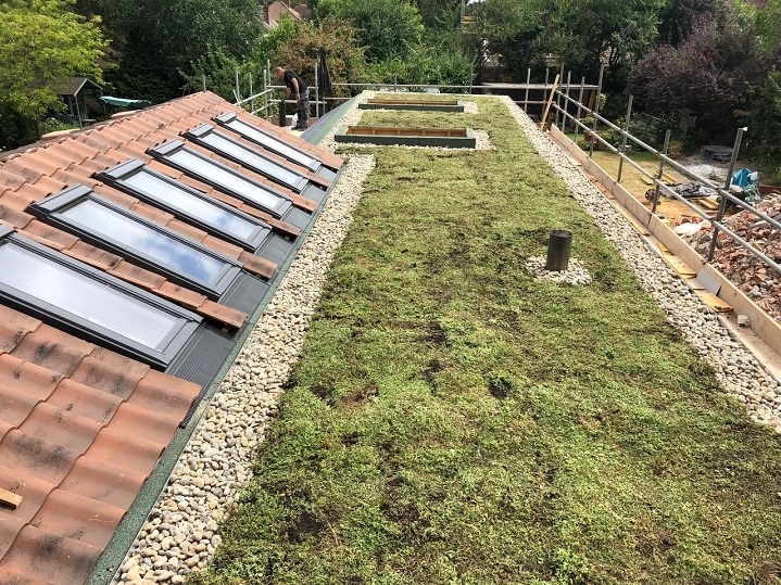green roofing system
