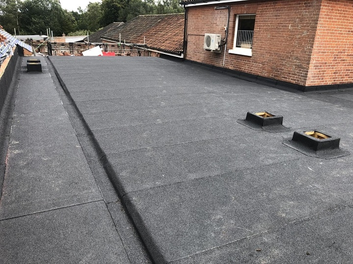 felt finished on new roof in Colney