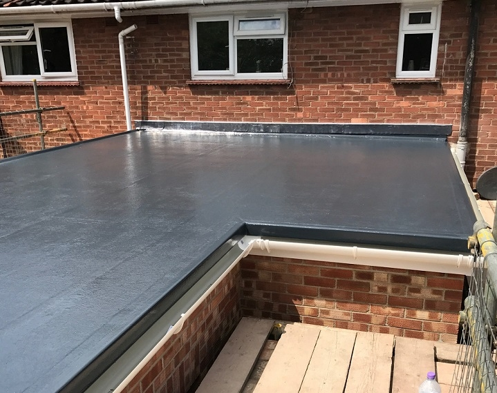 completed domestic flat roof