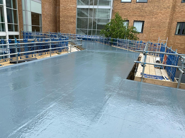 New GRP Roof for Isolation Ward at Norfolk & Norwich Hospital