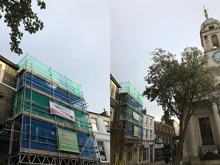 Norwich City Centre Shop Roof Repairs