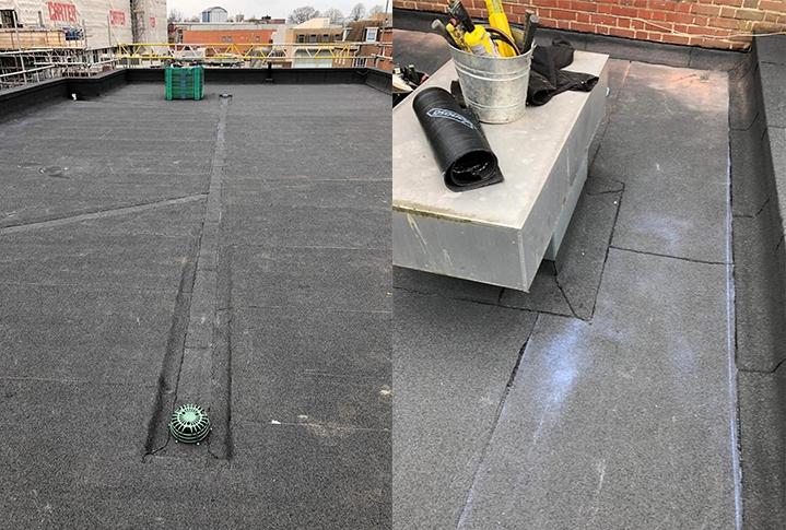 Norwich school roof work in progress