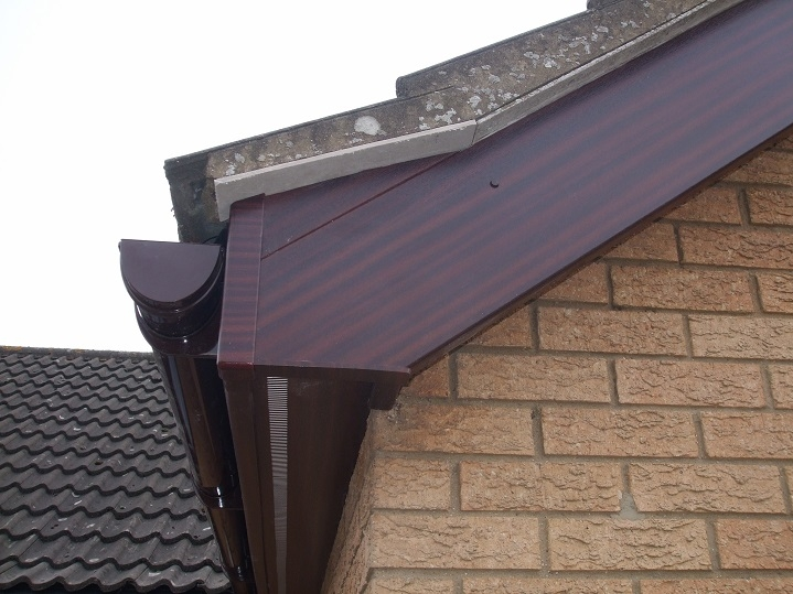 The roofline of a roof we previously worked on.