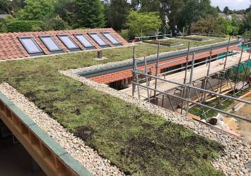 The finished green roof.