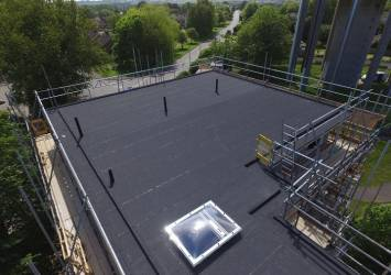 The Danosa roof system we installed.