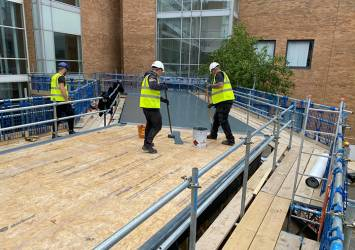RG GRP Roof at Norfolk & Norwich Hospital