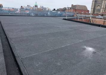 The new flat roof we installed on the NatWest bank.