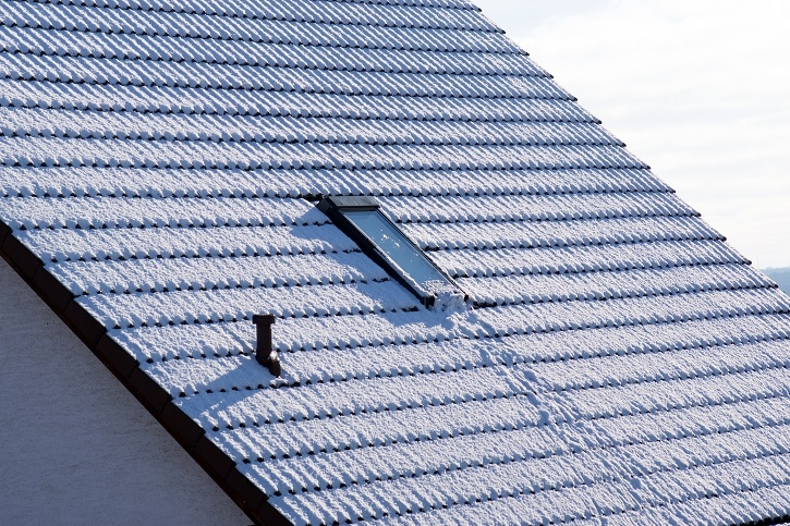 A snow covered roof