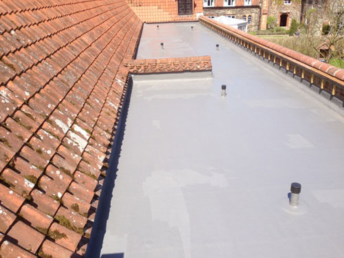 Installation Of Flat Roof Air Vents At Walsingham Church