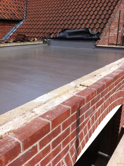 Installing A Fibreglass Roof For A Flat Roof Extension