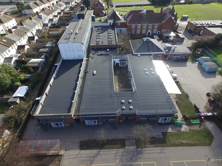 Harwich school roof three