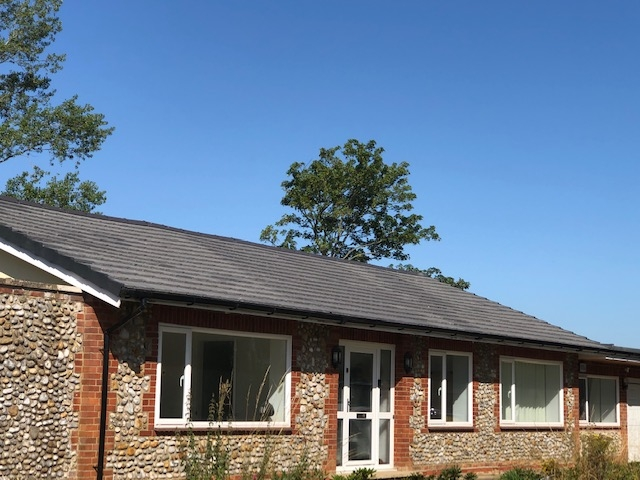 roof close up in melton constable summer