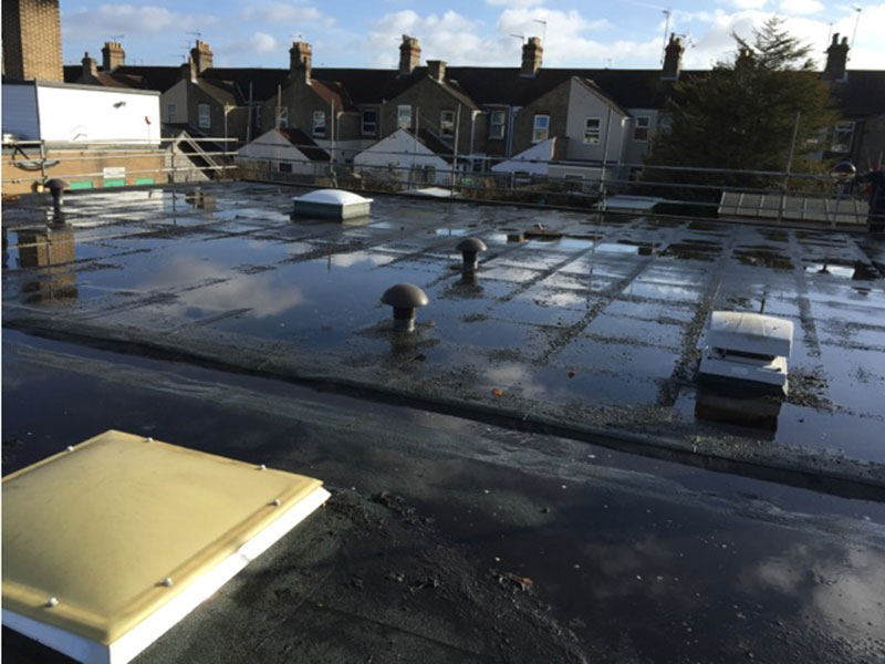 Ponding On Your Flat Roofing We Can Fix It
