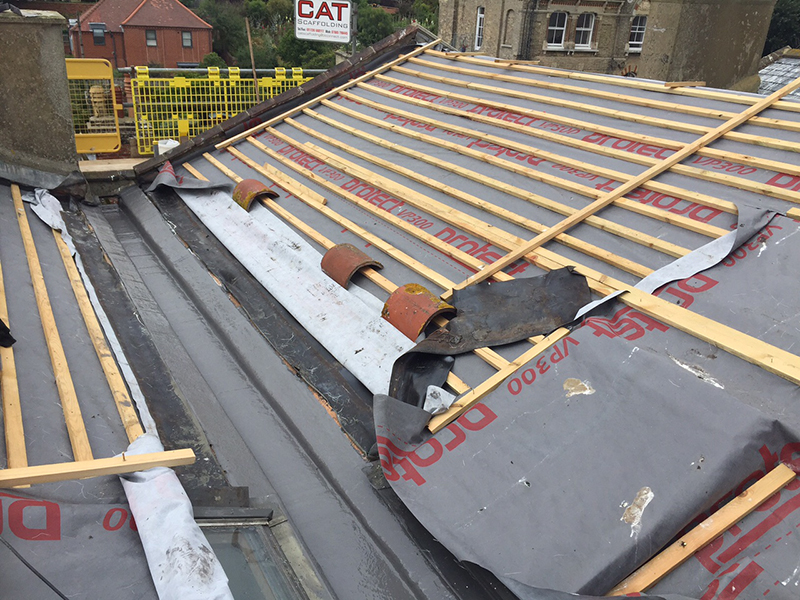 Recent Installation Flat Roof Balcony With Slate Roof