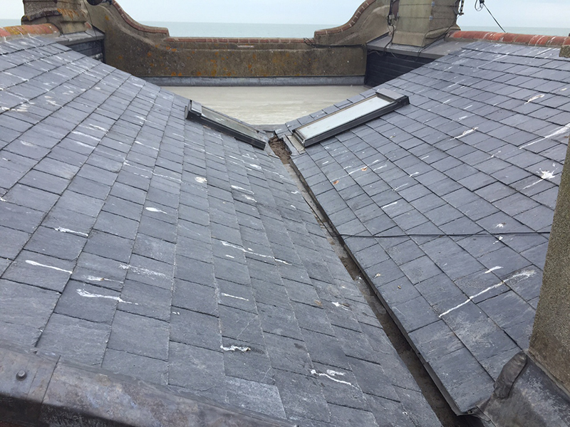 Slate Roof Installation : Recent installation flat roof balcony with slate