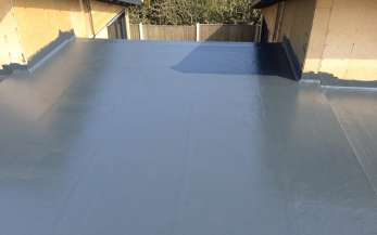 A grey GRP flat roof