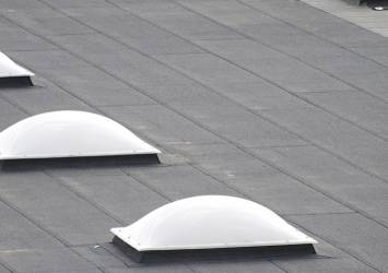 Sun tunnels on a roof